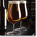 Cashs Ireland, Grand Cru Footed Craft Crystal Beer Glasses, Pair