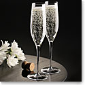 Cashs Ireland, Grand Cru Handmade, Vintage Champagne Crystal Toasting Flutes, Set of Four