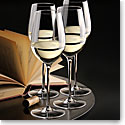 Cashs Ireland, Grand Cru Crystal White Wine Glasses, Set of 4