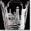 Cashs Crystal Art Collection Lighthouse Series, By Hook or By Crook Vase
