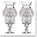 "Cashs Ireland, Art Collection Hurricane 9"" Candleholders, Pair, Limited Edition"