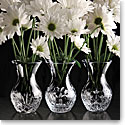 "Cashs Crystal Three Little Sisters, Set of Three 4 3/4"" Vases"