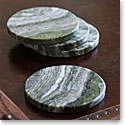 Cashs Ireland, Connemara Marble Round Coasters, Set of Four