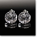 Cashs Ireland, Newgrange Pierced Round Crystal Earrings, Pair