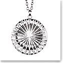 Cashs Ireland, Newgrange Circle Pendant Crystal Necklace, Large