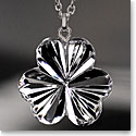 Cashs Ireland, Crystal Shamrock Pendant Necklace, Medium