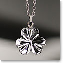 Cashs Ireland, Crystal Shamrock Pendant Necklace, Small