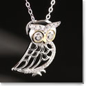 Cashs Ireland, Sterling Silver and Gold Owl Pendant Necklace
