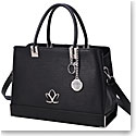 Cashs Ireland, Top Grain Leather Aileen Black Handbag with Atlantic Way Crystal Charm