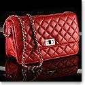 Cashs Ireland, Top Grain Leather Cooper Handbag, Red, Limited Edition