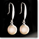 Cashs White Luster Pearl French Hook Sterling Silver Drop Earrings, Pair