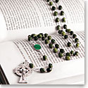 Cashs Ireland, St. Patrick Connemara Marble Round Bead Rosary