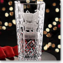 Cashs Ireland, Crystal Art Collection, Santa Shhh! Vase, Limited Edition