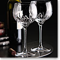 Cashs Ireland, Crystal Shannon Balloon Red Wine Glasses, Pair