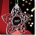 Cashs Crystal Celtic Trinity Star 2017 Ornament