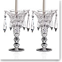 Cashs Ireland, Art Collection, Georgian Teardrop Crystal Candleholders, Pair