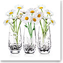 "Cashs Ireland, The Three Sisters, Set of Three 6"" Crystal Vases"