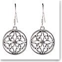 Cashs Sterling Silver Celtic Trinity Knot Round French Hook Earrings, Pair