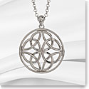 Cashs Ireland, Sterling Silver Round Celtic Trinity Knot Pendant Necklace