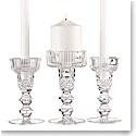 Cashs Ireland, Cooper Double Knob Unity Crystal Candleholder Set