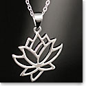 Cashs Sterling Silver Waterlilly Pendant Necklace