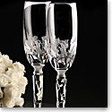Cashs Ireland, Art Collection Wedding Bouquet Crystal Flutes Pair, Limited Edition