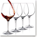 Cashs Ireland, Wine Cru Pinot Noir Crystal Glasses, Set of 4