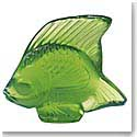 Lalique Crystal, Green Meadow Fish Sculpture