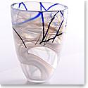 Kosta Boda Contrast Crystal Vase, White