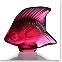 Lalique Crystal, Red Fish Sculpture