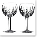 Waterford Crystal, Classic Lismore Crystal Balloon Wine Glasses, Pair