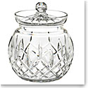 Waterford Crystal, Lismore Round Crystal Biscuit Barrel with Lid