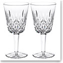 Waterford Crystal, Classic Lismore Goblet, Pair