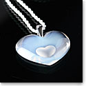Lalique Crystal Amoureuse A La Folie Pendant Tendreheart, Opal