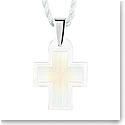 Lalique Crystal Amoureuse Passionnement Cross Pendant, Opal