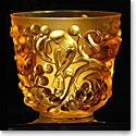 Lalique Avallon Vase, Amber