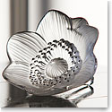 Lalique Anemone Flower Sculpture, Clear with Black