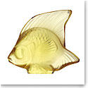 Lalique Yellow Gold Fish Sculpture