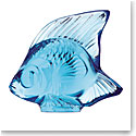 Lalique Pale Blue Fish Sculpture