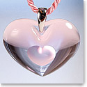 Lalique Crystal Amoureuse A La Folie Pendant Tendreheart, Pink