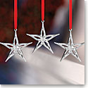 Nambe Mini Classic Modern Star Ornament, Set of 3
