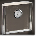 Orrefors Crystal, Vision Square Desk Crystal Clock