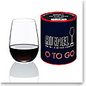 Riedel Big O Stemless, To Go Red Crystal Wine Glass, Single