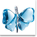 Lalique Crystal Papillons Butterfly Pendant, Light Blue Crystal