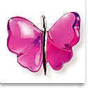 Lalique Crystal Papillons Butterfly Pendant Necklace, Fuchsia