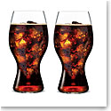 Coca-Cola and Riedel Crystal Wine Glasses, Pair