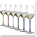 Riedel Fatto A Mano, Champagne Crystal Glasses, Set of 6