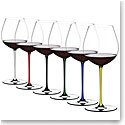 Riedel Fatto A Mano, Old World Pinot Noir Crystal Wine Glasses, Set of 6