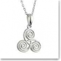 Cashs Sterling Silver Celtic Spiral Pendant Necklace