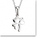 Cashs Ireland, Sterling Silver Small Shamrock Pendant Necklace